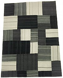 Patchwork-matta - Superior new wool Patchwork (svart)