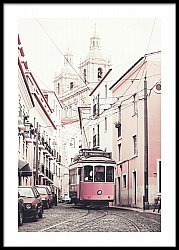 Yellow Tram in Lisbon